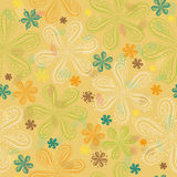 Yellow floral seamless pattern royalty free stock images