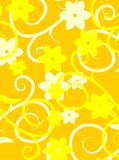 Yellow floral texture vector Stock Images