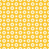 Yellow floral vector seamless pattern. Simple abstract geometric texture. Yellow floral vector seamless pattern. Simple geometric texture with small flowers stock illustration
