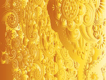 Yellow Floral Vintage Pattern Vector Royalty Free Stock Photo