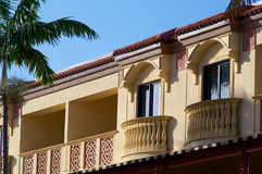 Yellow floridian architecture Royalty Free Stock Photography