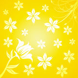 Yellow flourish background Royalty Free Stock Photos