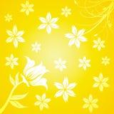 Yellow flourish background Royalty Free Stock Photos