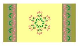 Yellow flourished carpet Stock Image
