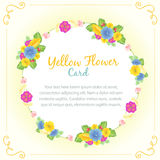 Yellow flower card Royalty Free Stock Photo