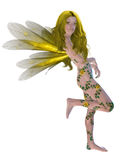 Yellow Flower Fairy Royalty Free Stock Image