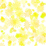 Yellow flower gift paper Stock Image