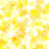 Yellow flower gift paper stock photo