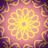 Yellow flower on a gradient purple background royalty free illustration