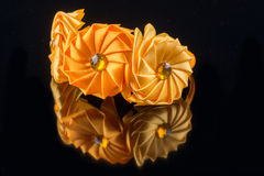 Yellow flower hair band handmade Stock Photos