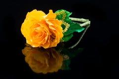 Yellow flower hair band handmade Stock Photo