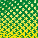 Yellow Flower Halftone Pattern. Yellow and Green Flower Halftone Pattern Stock Images