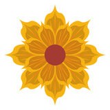 Yellow flower icon Stock Image