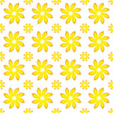 Yellow Flower Seamless Pattern. A Vector Yellow Flower Seamless Pattern Stock Image