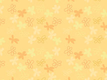 Yellow flower seamless pattern Stock Photography