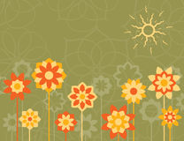 Yellow flowers stock illustration