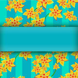 Yellow flowers on abstract background Royalty Free Stock Photos