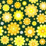 Yellow flowers background Stock Image