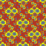 Yellow flowers on a beautiful background seamless pattern Royalty Free Stock Photography