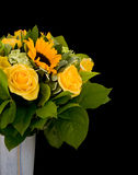Yellow flowers bouquet Stock Photo