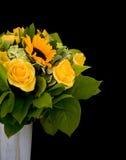 Yellow flowers bouquet stock photo