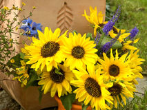 Yellow flowers bouquet Stock Photography