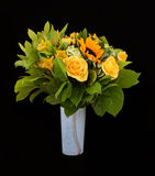 Yellow flowers bouquet Stock Photos