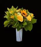 Yellow flowers bouquet stock photos
