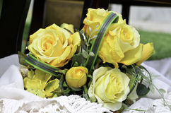Yellow flowers bouquet arrangement for decoration Royalty Free Stock Photo