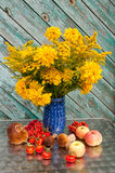 Yellow flowers bouquet Royalty Free Stock Image