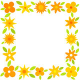 Yellow flowers frame Stock Images