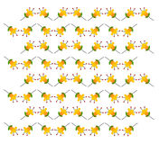 Yellow flowers pattern Royalty Free Stock Images