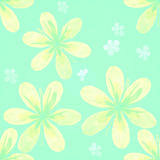 Yellow flowers pattern Royalty Free Stock Photography
