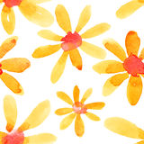 Yellow flowers seamless pattern Royalty Free Stock Photos