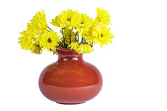 Yellow Flowers in a Vase Royalty Free Stock Photo