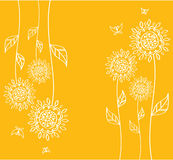 Yellow flowers, vector Stock Photo