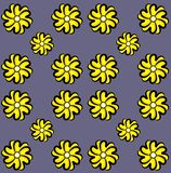 Yellow flowers vector art. Simple Yellow flowers vector art. Note SVG file is a transparent file royalty free illustration