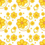 A yellow flowery design. Illustration of a yellow flowery design on a white background vector illustration