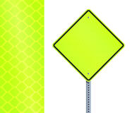 Yellow fluorescent road sign Royalty Free Stock Images