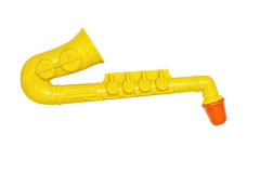 Yellow flute, toy for children Stock Image