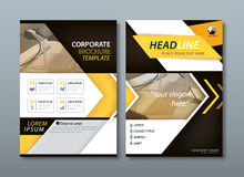 Yellow flyer design template vector, Leaflet cov royalty free illustration