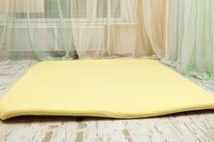 Yellow mat Stock Photo
