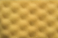 Yellow foam rubber texture Stock Photography