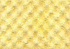 Yellow foam rubber texture background Royalty Free Stock Photography