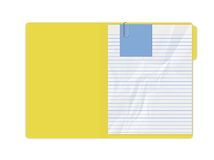 Yellow Folder. With Blank paper Stock Photos