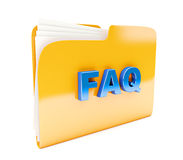 Yellow folder Stock Image