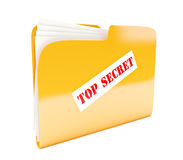 Yellow folder Stock Photography