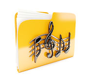 Yellow folder Royalty Free Stock Photo