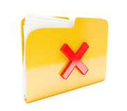 Yellow folder Royalty Free Stock Photos