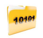 Yellow folder Stock Photo